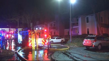 Two injured - one in jump to safety from second story - in Smyrna apartment fire