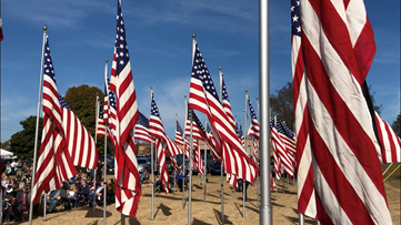 Hundreds of flags mark deceased local veterans in Cumming