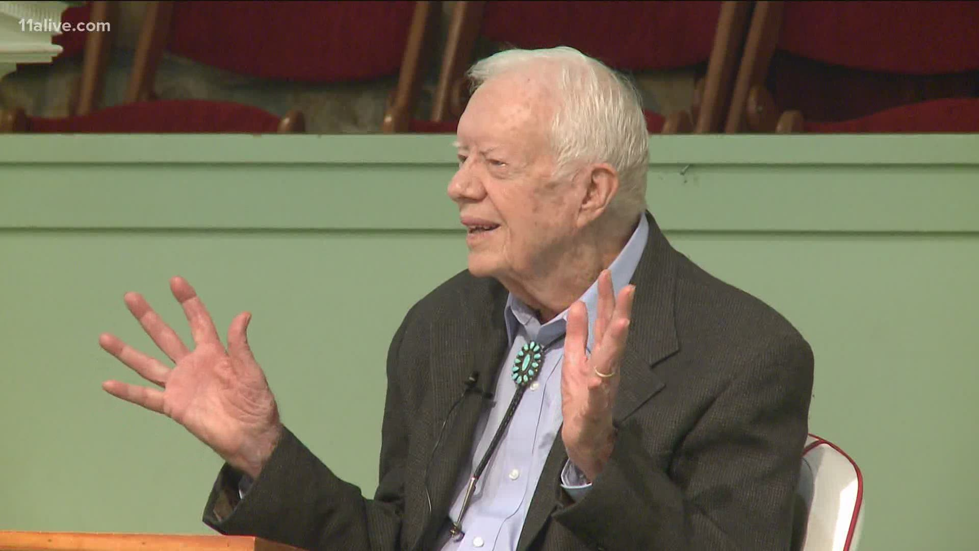 Jimmy Carter Sunday School Lessons Quietly Appear To Be Over 11alive Com