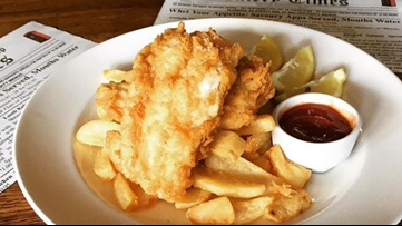 Pop by this Dunwoody pub for fish and chips