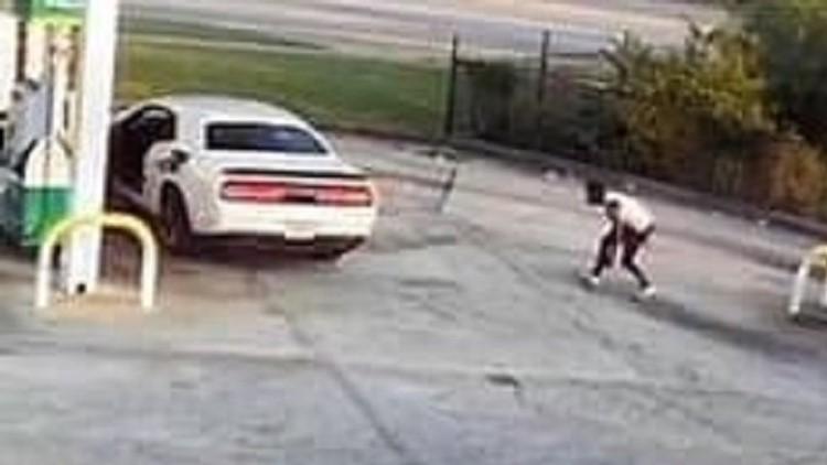 'Slider' nearly nabs car at Atlanta area gas station