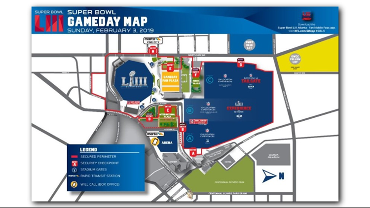 Super Bowl Game Day Map