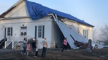 Historic Euharlee church structure heavily damaged in severe storms