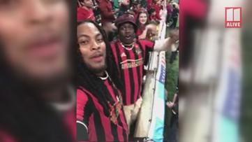 Waka Flocka gives 11Alive a quick shout-out at Atlanta United game