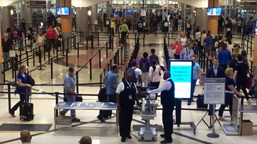 Airport officials: Security lines expected to be longer on Sunday