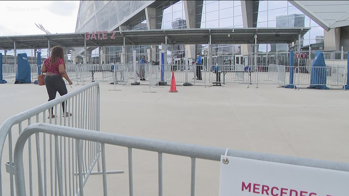 Mercedes-Benz Stadium mass vaccination site closes
