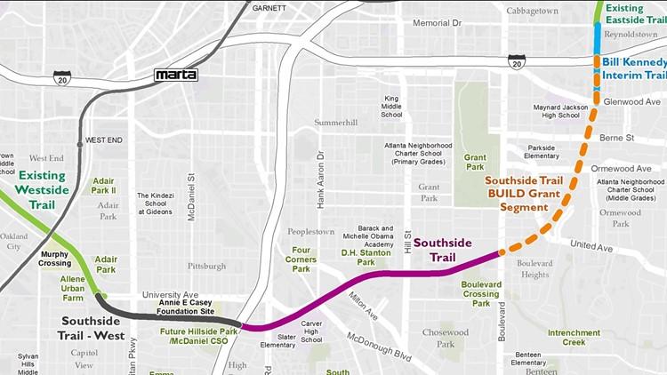 Southside Trail Map BeltLine