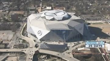 Mercedes Benz Stadium getting ready for Super Bowl LIII