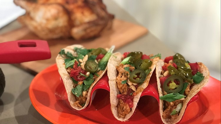 Fast and Easy Peanut Butter Mole Tacos