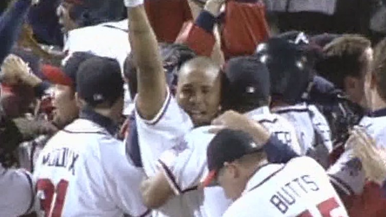 Video | Watch the celebrations after 1999 win, moments after the Braves were last headed to World Series