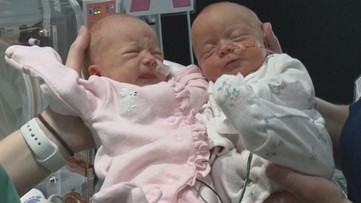 'We're having a twin delivery': Identical nurses help with delivery of twins at their own birth hospital