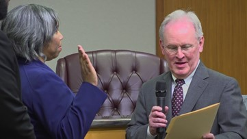 Jones sworn in as Lawrenceville council member
