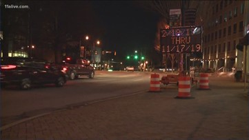 Nine month long construction project on Peachtree Street begins Feb. 18
