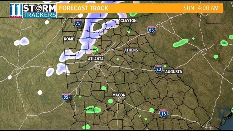 Sunday Morning Radar Forecast