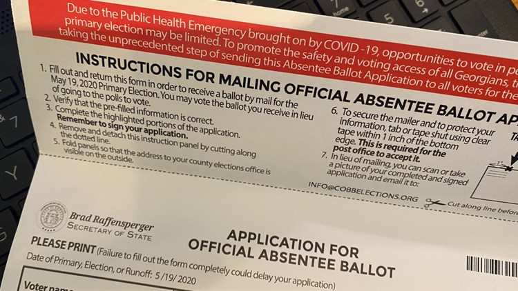 Georgia Democrats call for mail-in ballots to be sent to all voters