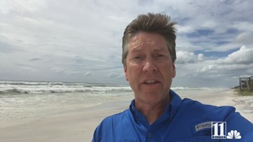 11Alive meteorologist Chris Holcomb in Florida panhandle as Michael becomes Category 2 Hurricane