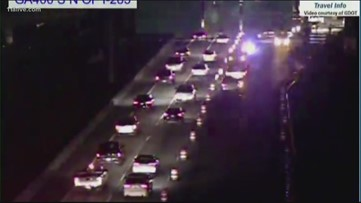 Construction project on GA 400 at 285 causes heavy backup