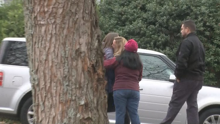 Parents wait for news after threats reported at Montgomery Elementary