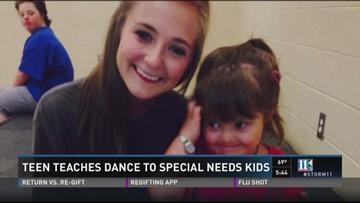 Teen teaches dance to special needs kids