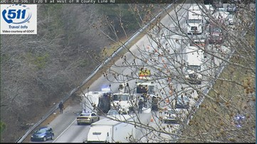 Accident blocking lanes on I-20 in Douglas County