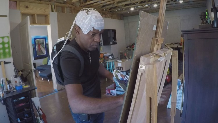 Veteran fighting brain cancer finally gets chance to share artwork with the world