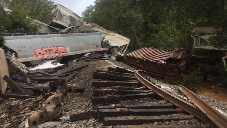 Residents evacuated after 'major' train derailment in Lilburn ignites fire involving hazardous materials