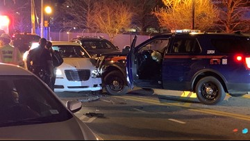 Woman arrested for DUI after crashing into Atlanta police car