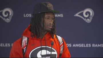 Former UGA star running back Todd Gurley signing with Falcons