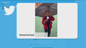 SO ADORABLE | Future Atlanta meteorologist at Deerwood Academy