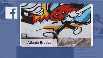 Check out this new Braves mural