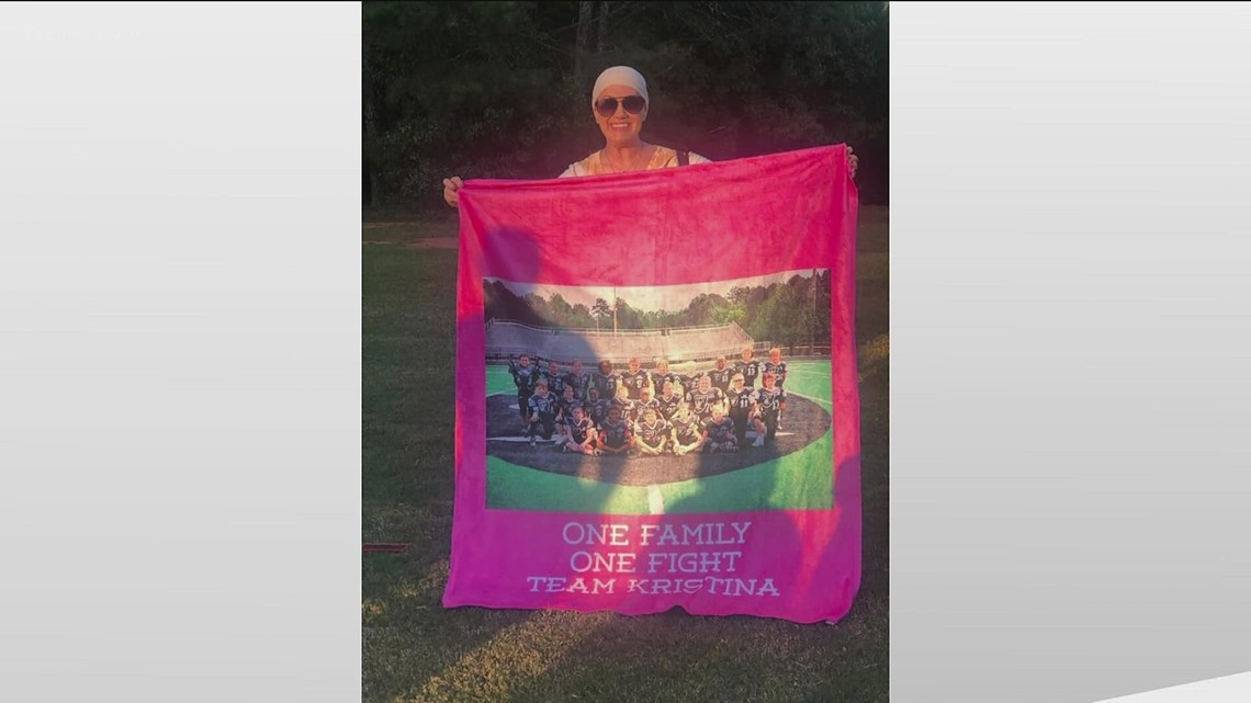 Football team supports mom through chemo   Hero Central