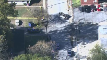 Car overturns at end of police chase