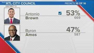 Antonio Brown wins Atlanta City Council District 3 seat