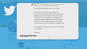 Suspect detained after threat posted on social media against schools