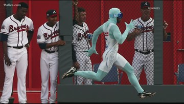 'The Freeze' from the Braves trains for the Olympics