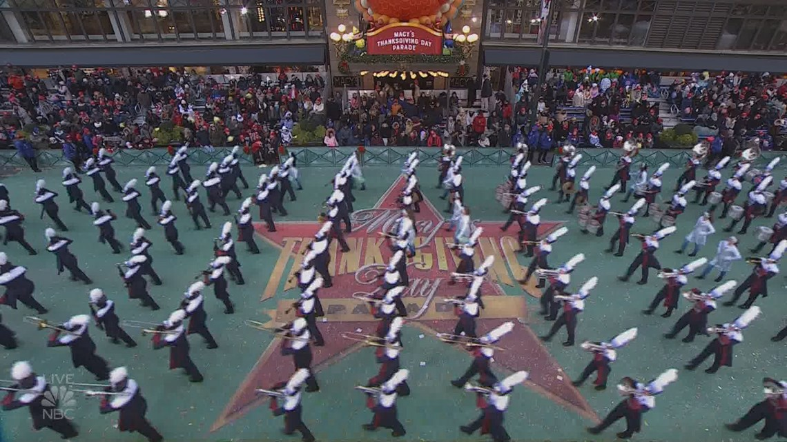 Woodland High School Wildcat Marching Band Performs In Macy S Thanksgiving Day Parade