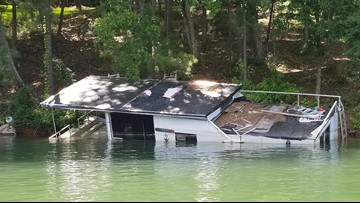 Lake Lanier's sinking houseboat 'Six Pack Sally'  removed from water