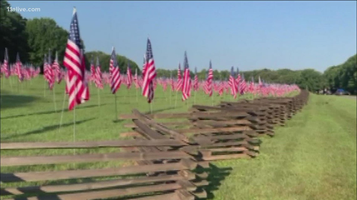 Kennesaw Field of Flags remembrance