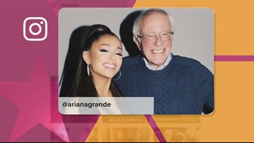 Ariana Grande: Thanks for coming to my Atlanta show,  Bernie Sanders