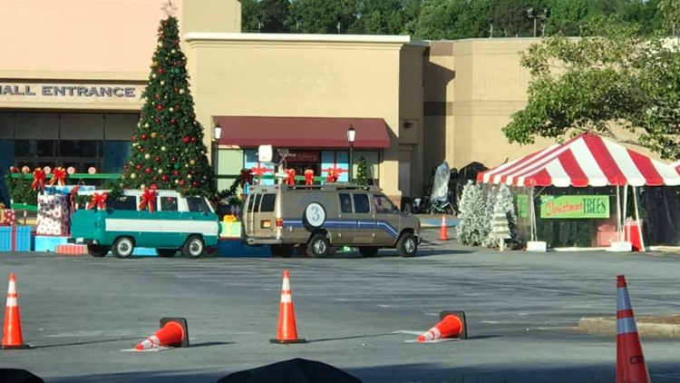 Film crew for upcoming holiday feature at North DeKalb Mall