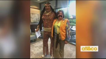 Chemo patient dresses up to bring smiles to others
