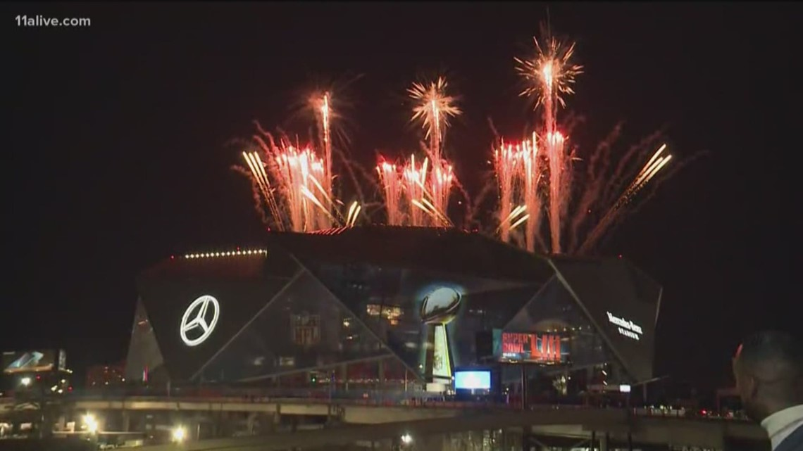 Fireworks at Mercedes-Benz Stadium show brief preview of the big show to  come