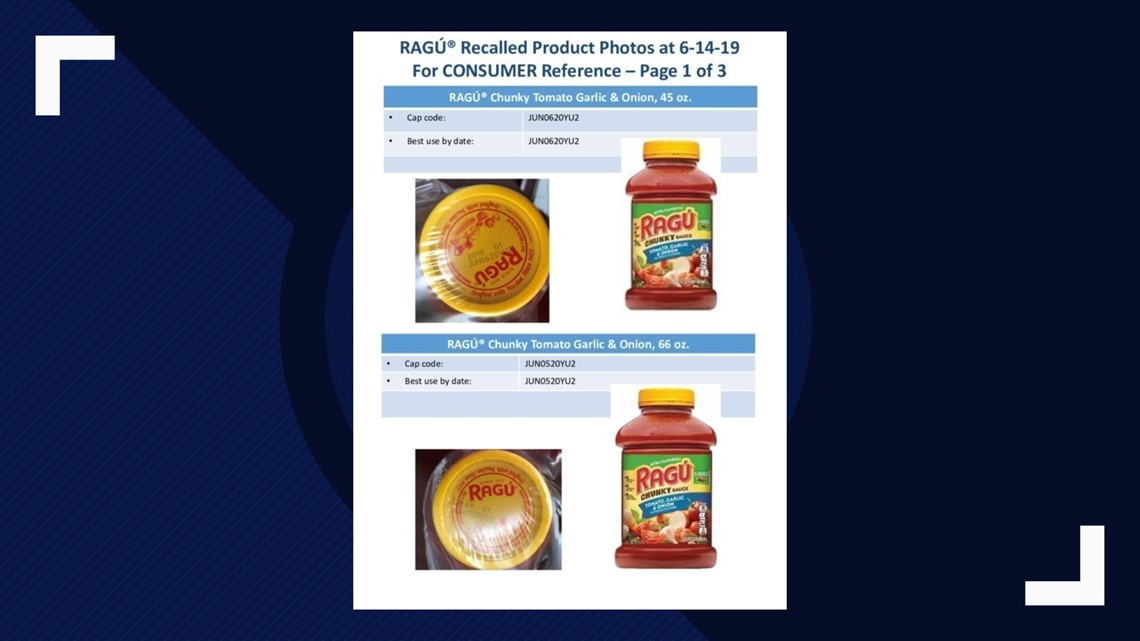 Maker of Ragu issues voluntary recall for some varieties of pasta