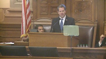 Teacher raises, gang crackdowns among Kemp's promises in first State of the State address