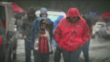 Atlanta United fans brave Saturday's endless rains: 'It's gross but we're gonna win'
