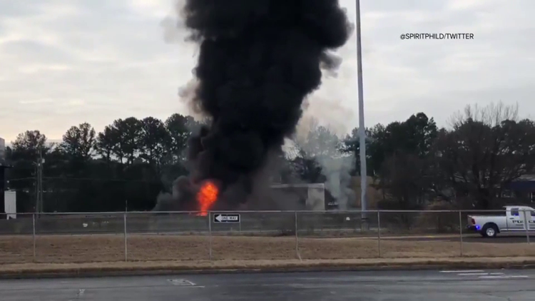 I-85 fire explosion sound captured by Twitter user: 'Oh, my God, something just blew up'