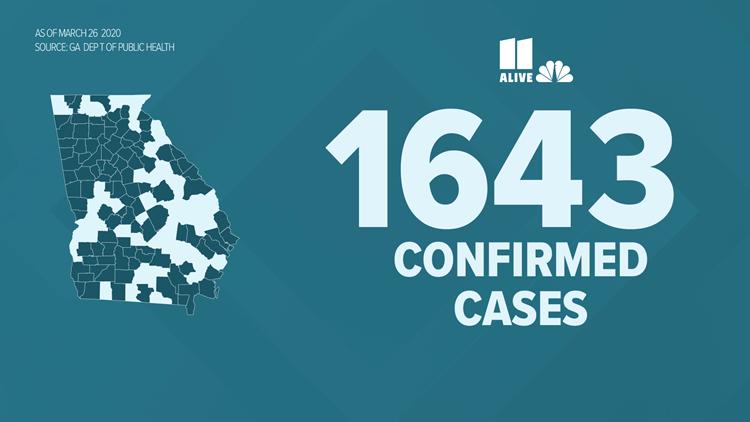 georgia coronavirus cases 7pm 3262020