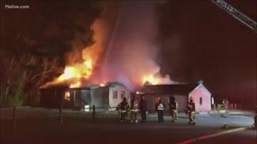 American Legion building catches fire in Tucker