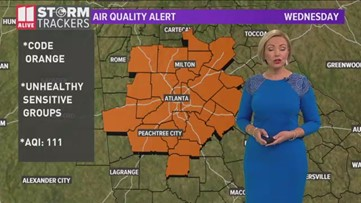Air quality alert issued for Wednesday