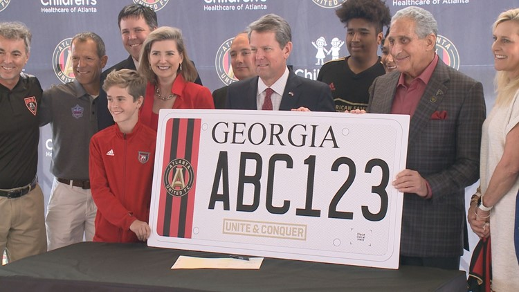 atl united license plate